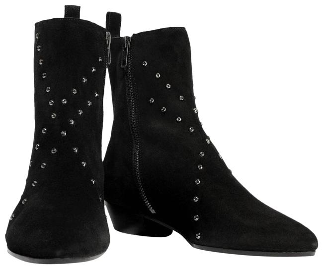 Item - Black Patti Woman Studded Suede Ankle Boots/Booties Size EU 39 (Approx. US 9) Regular (M, B)