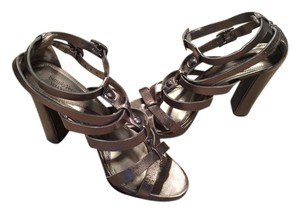 Vera Wang 8 Sexy High Heels Bronze Grey Silver Metallic Sandals