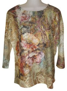Chico's Top Multi-colored Floral print