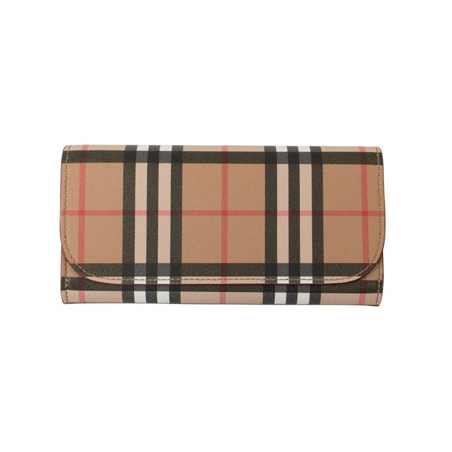 Item - Brown Vintage Check Continental Size Os Wallet