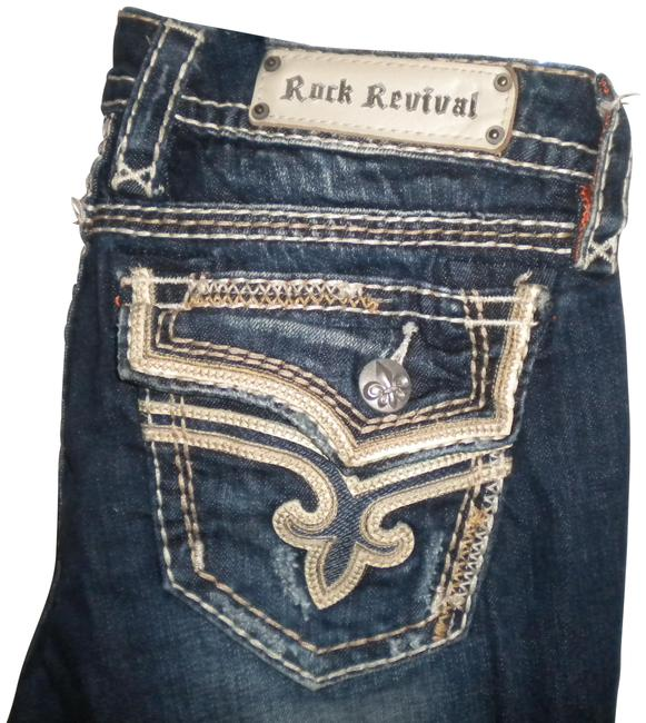 Item - Blue Dark Rinse Exclusive For Buckle Kai Women Boot Cut Jeans Size 27 (4, S)