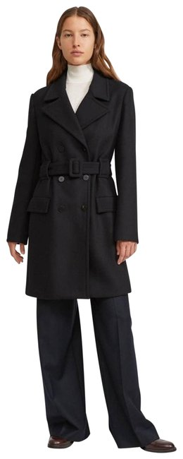 Item - Black Long Belted Wool Cashmere Small Coat Size 4 (S)
