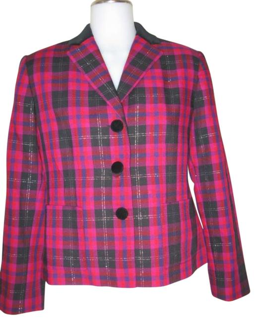 Kasper Pink Plaid Jacket