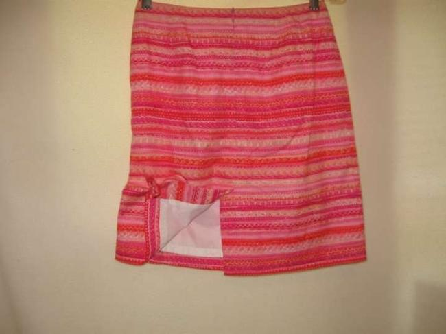 Talbots Skirt Multi-colored Pink