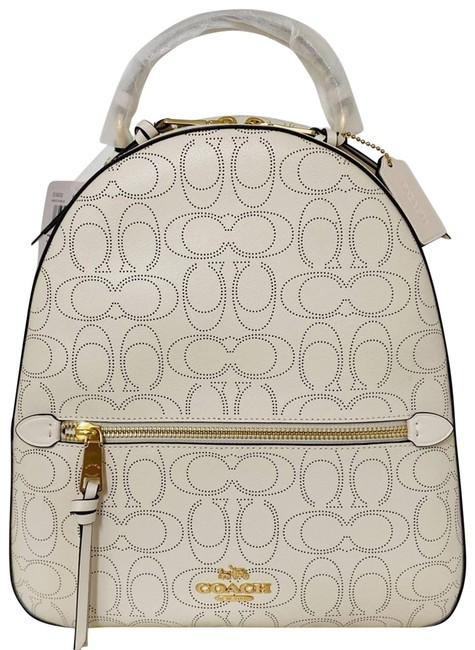 Item - New Jordyn In Signature White Leather Backpack