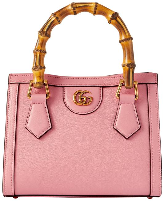 Item - Diana Pink Textured-leather Tote