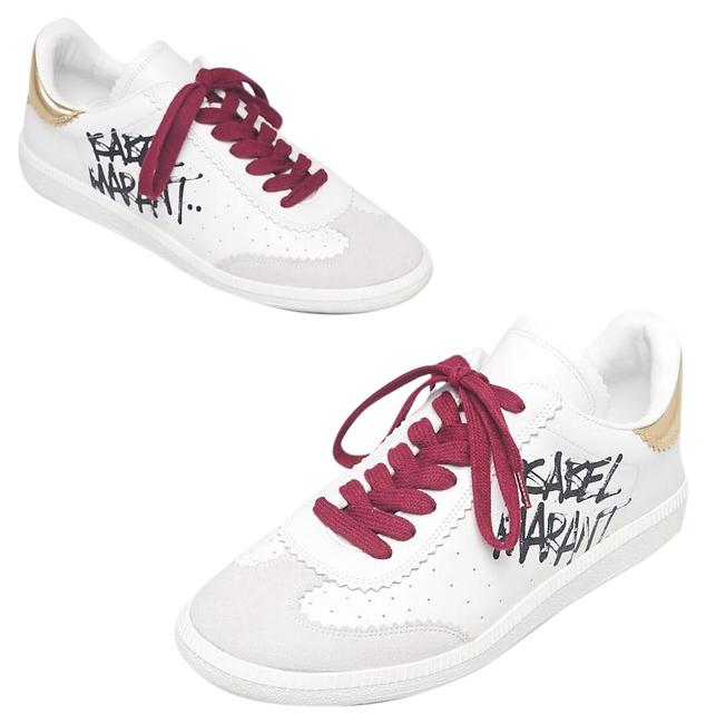 Item - White Leather Suede Street Tag Logo Low Sneakers Size EU 40 (Approx. US 10) Regular (M, B)