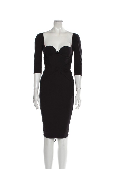 Item - Navy Thora Mid-length Cocktail Dress Size 2 (XS)