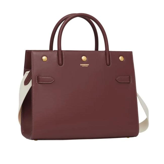 Item - Top Handle Medium Title Colorblock Red Leather Tote
