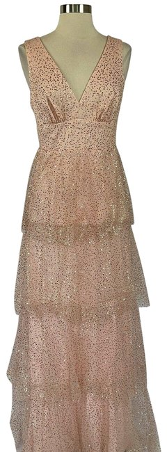 Item - Pink Women's Sequin Gown Long Formal Dress Size 4 (S)