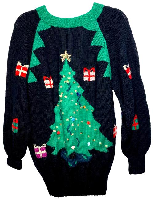 Item - Vintage Hand Knit Holiday Christmas Holiday Multicolor Sweater