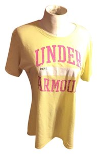Under Armour T Shirt Bright Yellow/Pink /WHITE