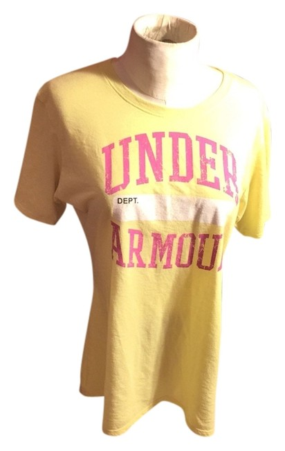 Item - Bright Yellow/Pink /White Semi-fitted; Heat Gear Tee Shirt Size 8 (M)