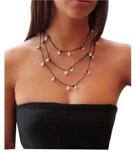 VanPetersen Designs London Brown Leather & Pearl Necklace