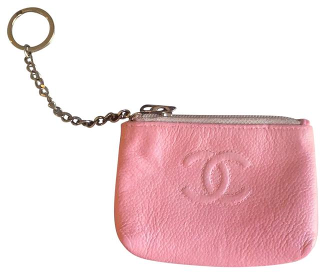 Item - Pink Key Pouch Leather Wallet