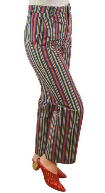 Item - Red/Blue/Brown Striped Pants Size 6 (S, 28)