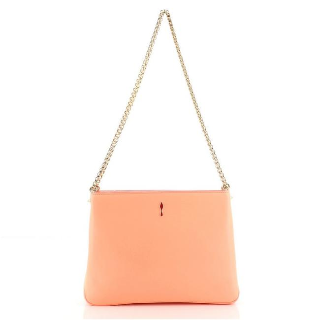 Item - Chain Triloubi Spiked Small Pink Leather Cross Body Bag