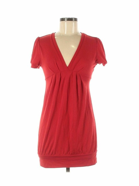 Item - Red Summer Mid-length Short Casual Dress Size 8 (M)