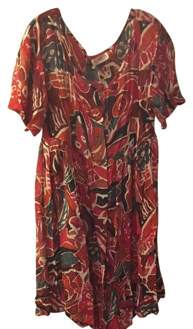 Item - Multicolor Sheer Floral Dress Cover-up/Sarong Size 14 (L)