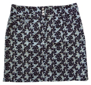 ann taylor loft Mini Skirt Black, Blue & Green