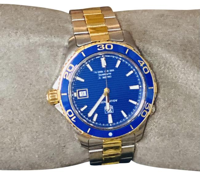 Item - Blue Silver Gold Aquaracer Stainless Dial Men's Watch