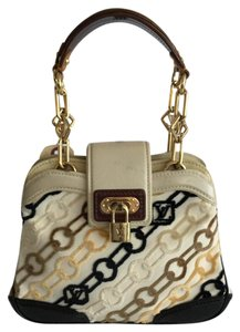 Louis Vuitton Rare Marc Jacobs Collab - Monogram Velvet Satchel in Beige