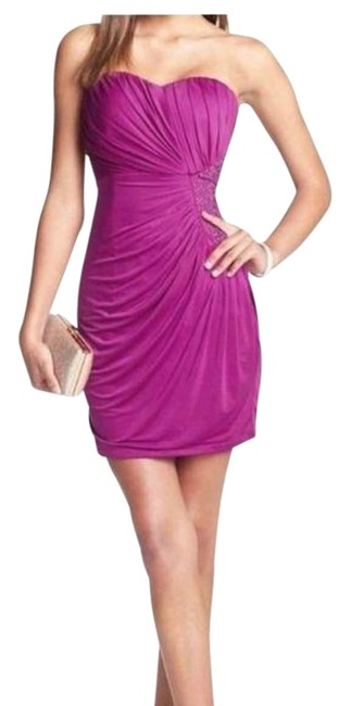 Item - Magenta Sweetheart Gemstone Cut Out Short Cocktail Dress Size 2 (XS)