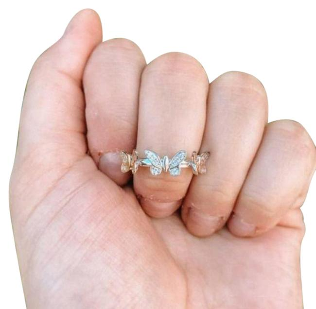Item - Silver Gold Butterfly Trio Ring