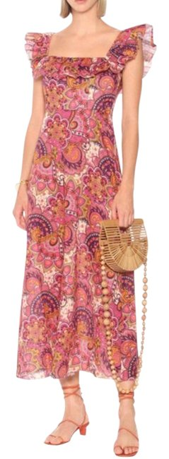 Item - Pink New Carnaby Floral 1/Us Long Casual Maxi Dress Size 6 (S)