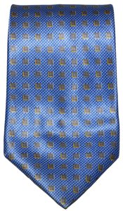 Lanvin Lanvin Paris Geometric Squares Pattern 100% Silk Designer Necktie Tie Made In France Authentic