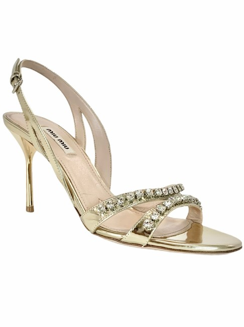 Item - Gold Special Occasion Formal Shoes Size EU 38 (Approx. US 8) Regular (M, B)