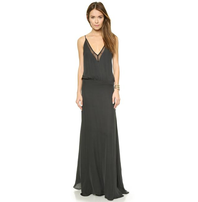 Item - Gray Chiffon Panel Gown In Charcoal Long Formal Dress Size 0 (XS)