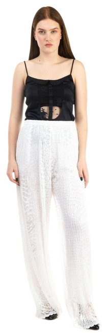 Item - White Lace Palazzo Pulitzer Elastic Trousers Pants Size 4 (S, 27)