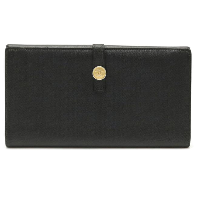Item - Black Long Coco Mark Hook Leather A20905 Wallet