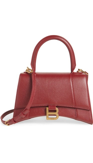 Item - Top Handle Small Hourglass Leather Shoulder Bag