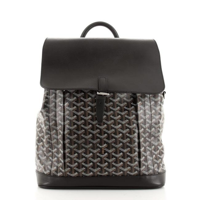Item - Alpin Mm Black Canvas Coated Leather Backpack