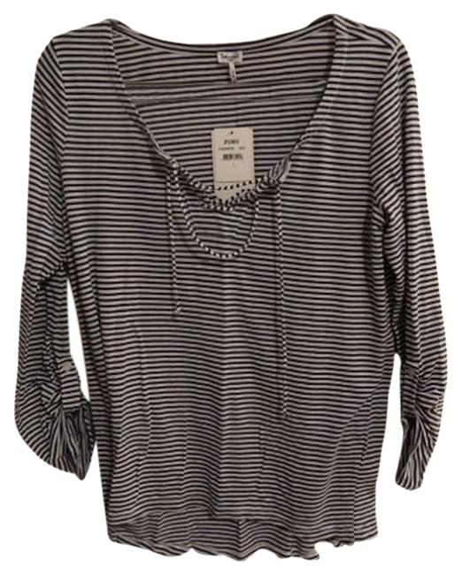 Preload https://item2.tradesy.com/images/splendid-blue-and-white-striped-lace-up-henley-34-sleeves-tee-shirt-size-12-l-2945296-0-0.jpg?width=400&height=650