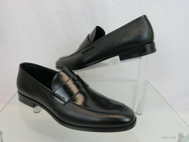 Item - Black 2db161 Saffiano Polished Leather Penny Logo Loafers 8.5 / Us 9.5 Shoes