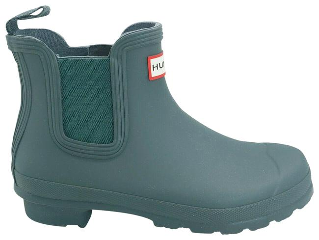 Item - Green Womens Ankle High Pull On Chelsea Rain Firth Rubber Boots/Booties Size US 6 Regular (M, B)