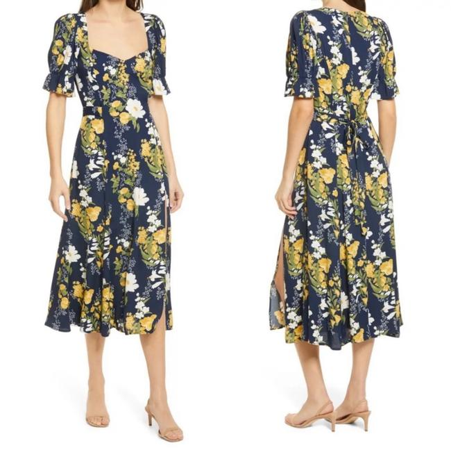 Item - Green Floral Mid-length Casual Maxi Dress Size 6 (S)