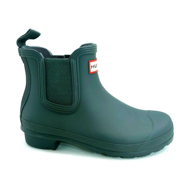 Item - Green Womens Ankle High Pull On Chelsea Rain Firth Rubber Boots/Booties Size US 5 Regular (M, B)