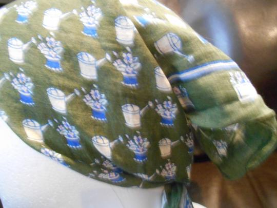 Favolosa Vintage Sweet Watering Can Square Cotton Scarf Made in India