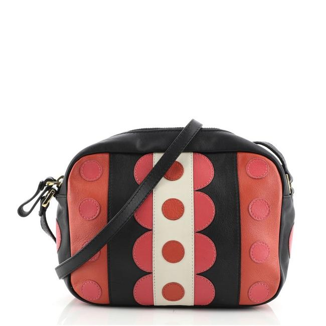 Item - Camera With Applique Small Multicolor Leather Cross Body Bag