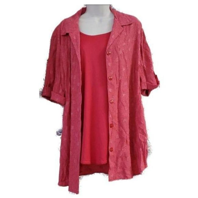 Item - Pink Two Fer Blouse Size 22 (Plus 2x)