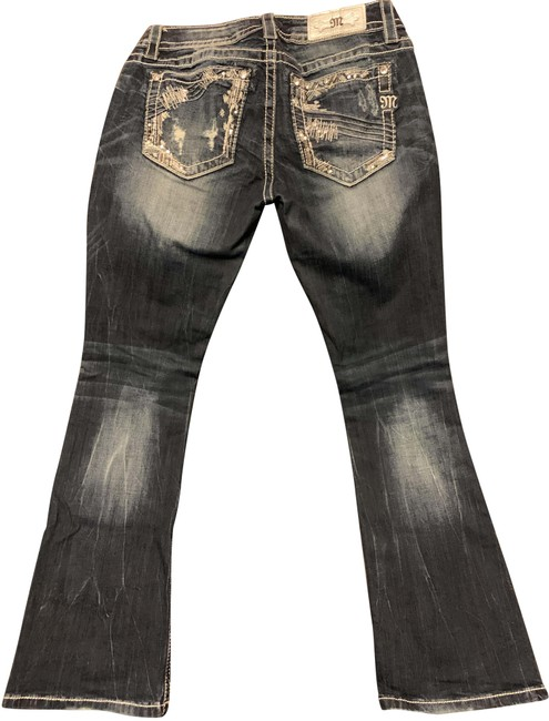 Item - Blue Distressed Boot Cut Jeans Size 28 (4, S)