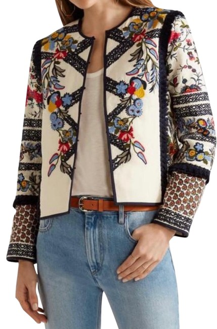 Item - Off White Embroidery Jacket Size 6 (S)