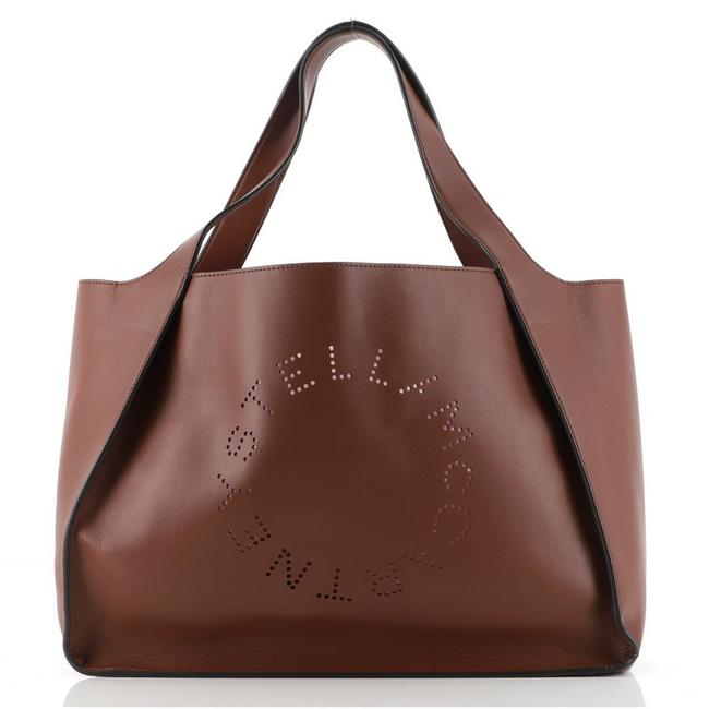 Item - East West Alter Perforated Brown Faux Leather Tote