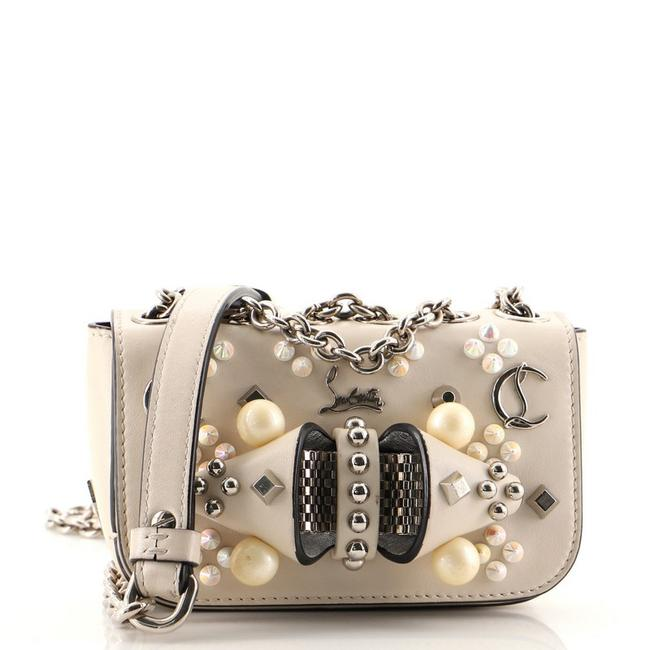 Item - Sweet Charity Spiked Mini Neutral Leather Cross Body Bag