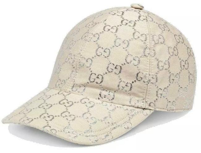 Item - Off White Silver Gg Lame XL New Sparkling Current Wool Logo Baseball Cap 59/Xl Hat