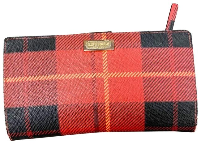 Item - Red Woodland Plaid Stacy Bifold Wallet